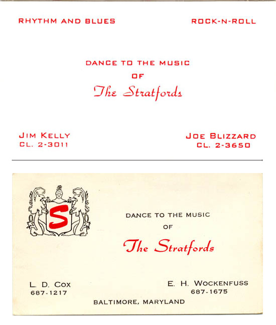 The Stratfords band card